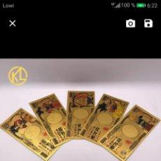 Reproducciones billetes y monedas: BILLETES CHAPADO ORO 24K. Lote 178916038