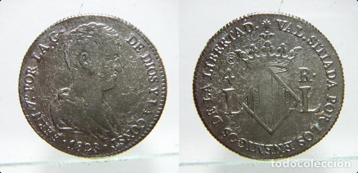 REPRODUCCIÓN DE CUATRO REALES DE FERNANDO VII 1823 VALENCIA (Numismática - Reproducciones)