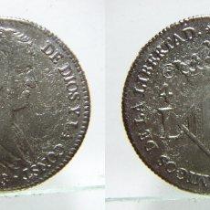 Reproducciones billetes y monedas: REPRODUCCIÓN DE CUATRO REALES DE FERNANDO VII 1823 VALENCIA. Lote 179088330