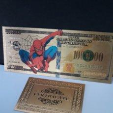 Reproductions billets et monnaies: PRECIOSO BILLETE DE SPIDERMAN CON CERTIFICADO DE AUTENTICIDAD, NUEVO. Lote 220507603