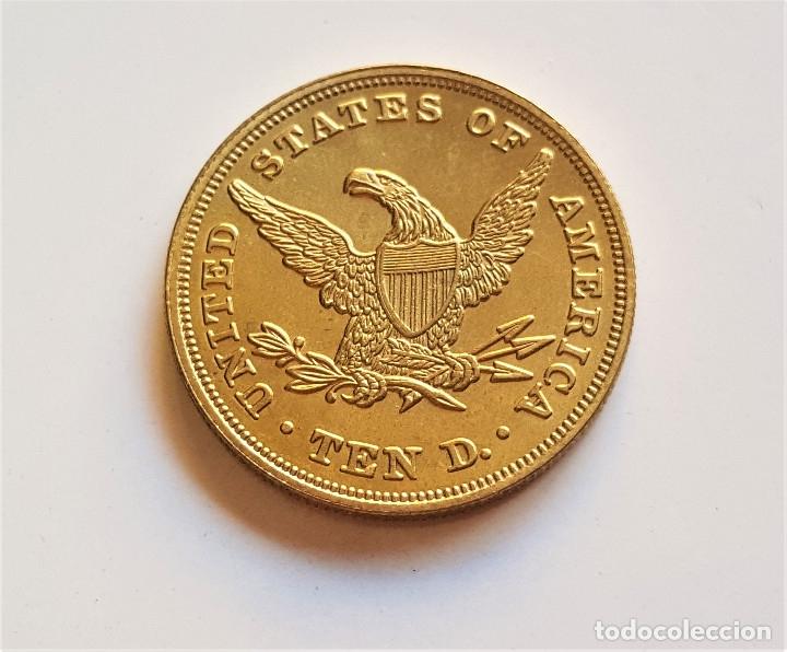 10 DOLLARS 1838 EAGLE LIBERTY ESTADOS UNIDOS - 27.MM DIAMETRO - 9.7.GRAMOS (Numismática - Reproducciones)