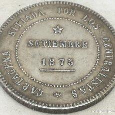Reproducciones billetes y monedas: RÉPLICA MONEDA 1873. 5 PESETAS. REVOLUCIÓN CANTONAL, CARTAGENA, I REPÚBLICA ESPAÑOLA. Lote 180219795
