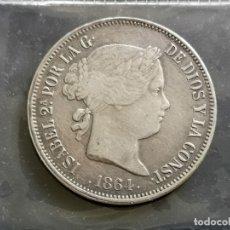 Reproducciones billetes y monedas: 20 REALES 1864. Lote 180239921