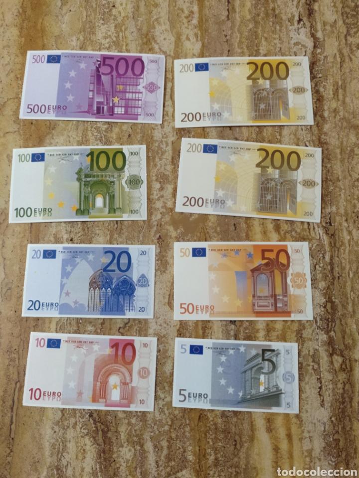 BILLETES DE EURO DIDÁCTICOS EN CARTON (Numismática - Reproducciones)