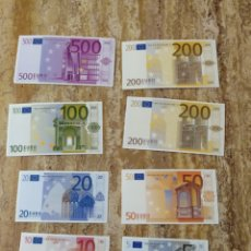 Reproducciones billetes y monedas: BILLETES DE EURO DIDÁCTICOS EN CARTON. Lote 180251671
