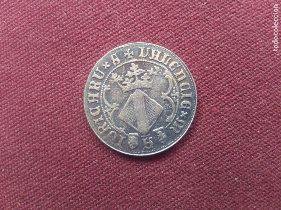 Reproducciones billetes y monedas: Valencia. Reproducción en plata de 800 - Foto 2 - 180862511