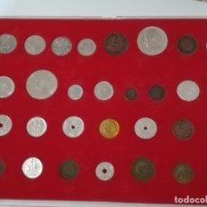 Reproducciones billetes y monedas: HISTORIA DE LA PESETA DEL DIARIO SUR DE MÁLAGA. COLECCIÓN DE 30 MONEDAS (REPRODUCCIONES). Lote 182414996