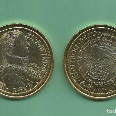 Reproducciones billetes y monedas: RÉPLICA DE LA FNMT. 8 ESCUDOS 1809. FERNANDO VII. SANTIAGO DE CHILE. Lote 204728943