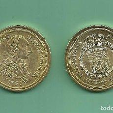 Reproducciones billetes y monedas: RÉPLICA DE LA FNMT. 8 ESCUDOS 1760 CARLOS III MADRID. Lote 204730118