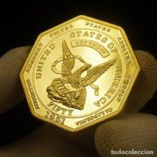 Reproducciones billetes y monedas: MONEDA OCTOGONAL CONMEMORATIVA ESTADOS UNIDOS DE 1891,SE ACEPTAN OFERTAS. Lote 182965440