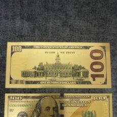 Reproducciones billetes y monedas: BILLETE 100$ ORO 24K. Lote 183345558