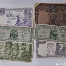 Reproducciones billetes y monedas: LOTE 6 REPRODUCCIONES BILLETES PUBLICIDAD. Lote 183630600