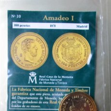 Reproducciones billetes y monedas: AMADEO I -100 P. . -1871 -. Lote 183773633