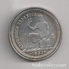 Reproducciones billetes y monedas: MONEDA 1 PESETA 1933 - REPRODUCCIÓN. Lote 184018165