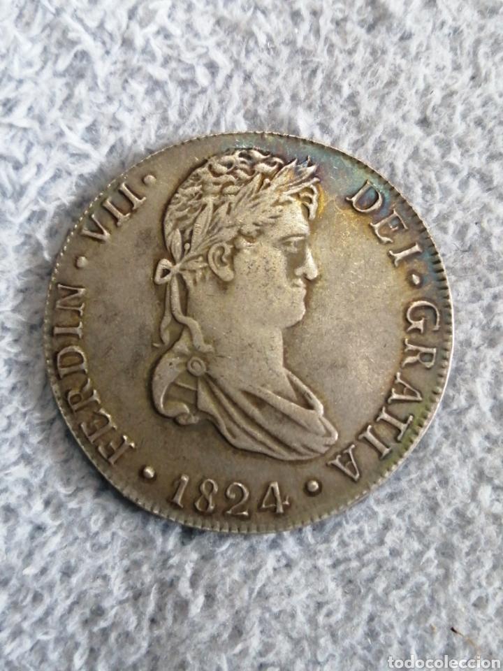 MONEDA 8 REALES, FERNANDO VII, 1824 CREO QUE ES REPRODUCCION (Numismática - Reproducciones)