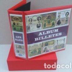 Reproducciones billetes y monedas: ALBUM SUPERMAMUT, GRAN CAPACIDAD, PARA BILLETES. Lote 184546741