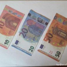 Reproducciones billetes y monedas: BILLETES EURO. Lote 184627418