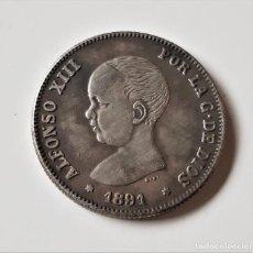 Reproducciones billetes y monedas: 1891 ESPAÑA 2 PESETAS ALFONSO XIII. Lote 185989830