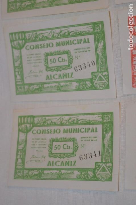 Reproducciones billetes y monedas: 18 BILLETES GUERRA CIVIL variados - JUNIO 1937 - ALCAÑÍZ - ALGUNOS CONSECUTIVOS - CONSEJO MUNICIPAL - Foto 2 - 215238405
