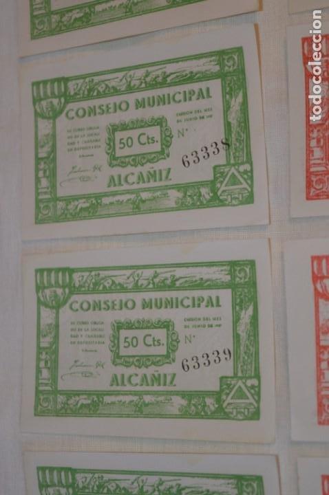 Reproducciones billetes y monedas: 18 BILLETES GUERRA CIVIL variados - JUNIO 1937 - ALCAÑÍZ - ALGUNOS CONSECUTIVOS - CONSEJO MUNICIPAL - Foto 3 - 215238405