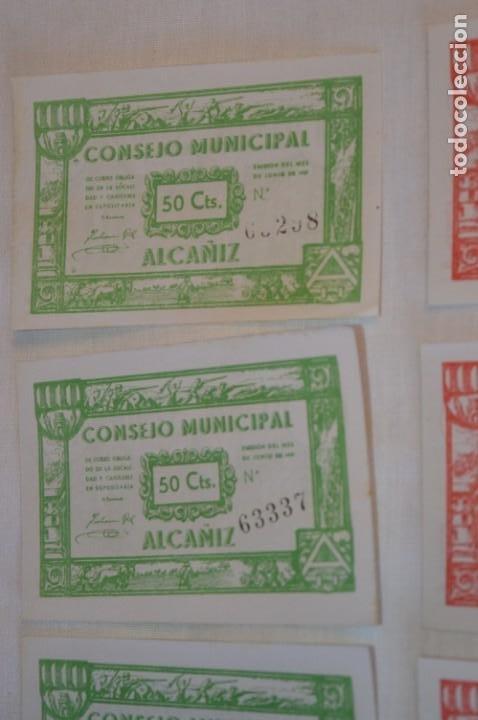 Reproducciones billetes y monedas: 18 BILLETES GUERRA CIVIL variados - JUNIO 1937 - ALCAÑÍZ - ALGUNOS CONSECUTIVOS - CONSEJO MUNICIPAL - Foto 4 - 215238405