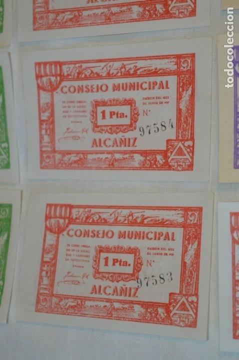 Reproducciones billetes y monedas: 18 BILLETES GUERRA CIVIL variados - JUNIO 1937 - ALCAÑÍZ - ALGUNOS CONSECUTIVOS - CONSEJO MUNICIPAL - Foto 5 - 215238405