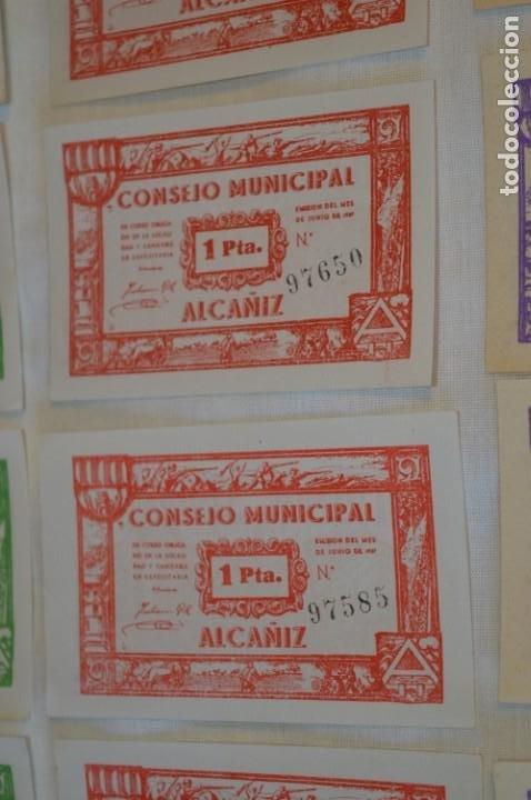 Reproducciones billetes y monedas: 18 BILLETES GUERRA CIVIL variados - JUNIO 1937 - ALCAÑÍZ - ALGUNOS CONSECUTIVOS - CONSEJO MUNICIPAL - Foto 6 - 215238405