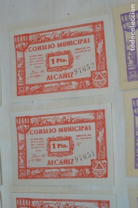 Reproducciones billetes y monedas: 18 BILLETES GUERRA CIVIL variados - JUNIO 1937 - ALCAÑÍZ - ALGUNOS CONSECUTIVOS - CONSEJO MUNICIPAL - Foto 7 - 215238405