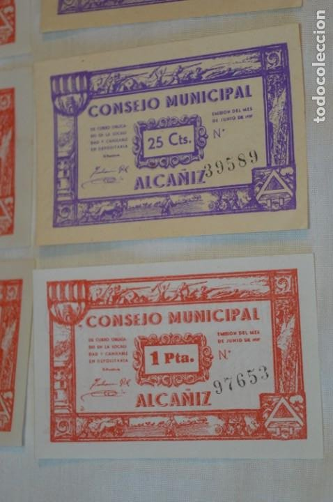 Reproducciones billetes y monedas: 18 BILLETES GUERRA CIVIL variados - JUNIO 1937 - ALCAÑÍZ - ALGUNOS CONSECUTIVOS - CONSEJO MUNICIPAL - Foto 8 - 215238405