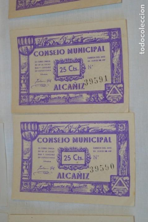 Reproducciones billetes y monedas: 18 BILLETES GUERRA CIVIL variados - JUNIO 1937 - ALCAÑÍZ - ALGUNOS CONSECUTIVOS - CONSEJO MUNICIPAL - Foto 9 - 215238405