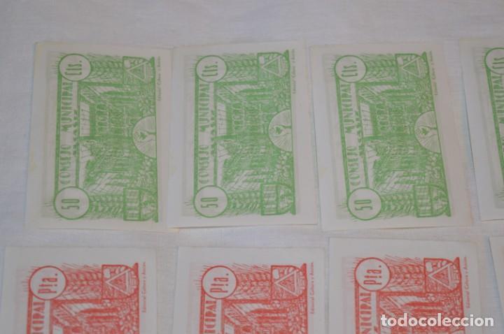 Reproducciones billetes y monedas: 18 BILLETES GUERRA CIVIL variados - JUNIO 1937 - ALCAÑÍZ - ALGUNOS CONSECUTIVOS - CONSEJO MUNICIPAL - Foto 12 - 215238405