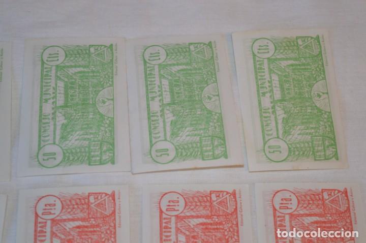 Reproducciones billetes y monedas: 18 BILLETES GUERRA CIVIL variados - JUNIO 1937 - ALCAÑÍZ - ALGUNOS CONSECUTIVOS - CONSEJO MUNICIPAL - Foto 13 - 215238405