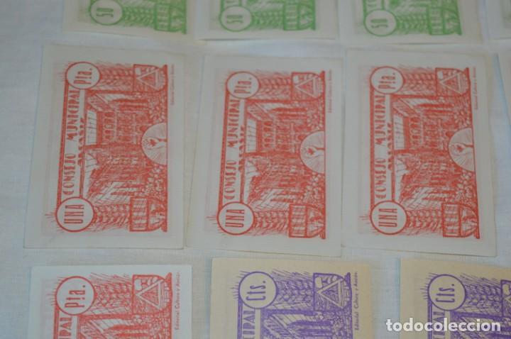 Reproducciones billetes y monedas: 18 BILLETES GUERRA CIVIL variados - JUNIO 1937 - ALCAÑÍZ - ALGUNOS CONSECUTIVOS - CONSEJO MUNICIPAL - Foto 14 - 215238405