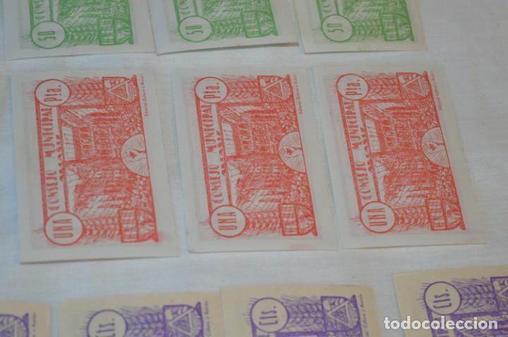 Reproducciones billetes y monedas: 18 BILLETES GUERRA CIVIL variados - JUNIO 1937 - ALCAÑÍZ - ALGUNOS CONSECUTIVOS - CONSEJO MUNICIPAL - Foto 15 - 215238405
