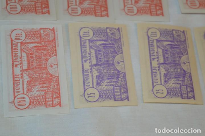 Reproducciones billetes y monedas: 18 BILLETES GUERRA CIVIL variados - JUNIO 1937 - ALCAÑÍZ - ALGUNOS CONSECUTIVOS - CONSEJO MUNICIPAL - Foto 16 - 215238405