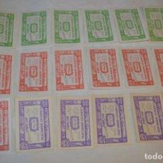 Reproducciones billetes y monedas: 18 BILLETES GUERRA CIVIL VARIADOS - JUNIO 1937 - ALCAÑÍZ - ALGUNOS CONSECUTIVOS - CONSEJO MUNICIPAL. Lote 186060567