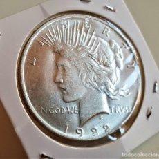 Reproducciones billetes y monedas: USA 1 DOLAR DOLLAR PLATA 1922 LIBERTY PEACE MONEDA DE DOS CARAS BATMAN. Lote 186066373