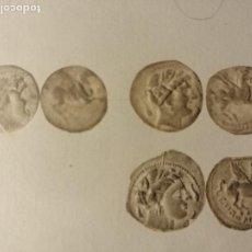 Reproducciones billetes y monedas: 500 IMPRONTAS SOBRE PAPEL DE MONEDAS CATALANAS. GRIEGAS, IBERAS, COMTALS Y SERIES LOCALES. CA 1930. Lote 186188813