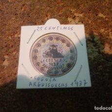 Reproducciones billetes y monedas: MONEDA CARTON DE CUENCA ( ARGUISUELAS ) 25 CENTIMOS 1937. Lote 186201310