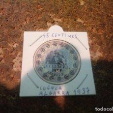 Reproducciones billetes y monedas: MONEDA CARTON DE CUENCA ( ALGARRA ) 45 CENTIMOS 1937. Lote 186201451