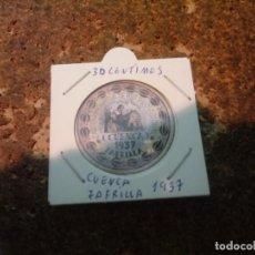 Reproducciones billetes y monedas: MONEDA CARTON DE CUENCA ( ZOFRILLA ) 30 CENTIMOS 1937. Lote 186201797