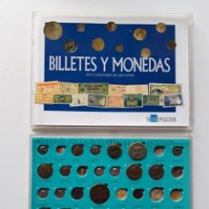 Reproducciones billetes y monedas: BILLETES Y MONEDAS EN LA HISTORIA DE ALICANTE. LEER CONTENIDO. SALIDA 1 CÉNTIMO. Lote 186280981