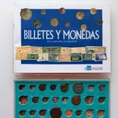 Reproducciones billetes y monedas: BILLETES Y MONEDAS EN LA HISTORIA DE ALICANTE. LEER CONTENIDO. SALIDA 1 CÉNTIMO. Lote 186295097