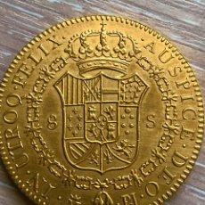 Reproducciones billetes y monedas: MONEDA DE ORO 8 ESCUDOS - ESPAÑA 1773. RÉPLICA. Lote 187382983