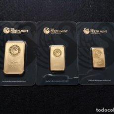 Reproducciones billetes y monedas: LOTE DE 3 LINGOTES. Lote 187393811