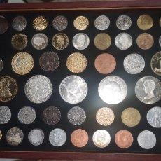 Reproducciones billetes y monedas: COLECCIÓN DE REPRODUCCIÓN DE MONEDAS ANTIGUAS 48 PIEZAS. Lote 188342560