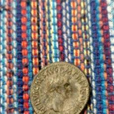 Reproducciones billetes y monedas: BONITA COPIA EN PLATA DE UN DENARIO DE NERVA REVERSO: MANOS UNIDAS. PESO: 3'70 GRAMOS.. Lote 260664570