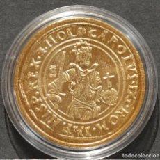 Reproducciones billetes y monedas: REPRODUCCIÓN MONEDA DE ORO REAL DE ORO DORDRECHT PAISES BAJOS ESPAÑA METAL CON BAÑO DE ORO PURO. Lote 189235710