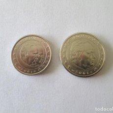Reproducciones billetes y monedas: MONACO * 1 Y 2 EUROS 2001. Lote 189501178