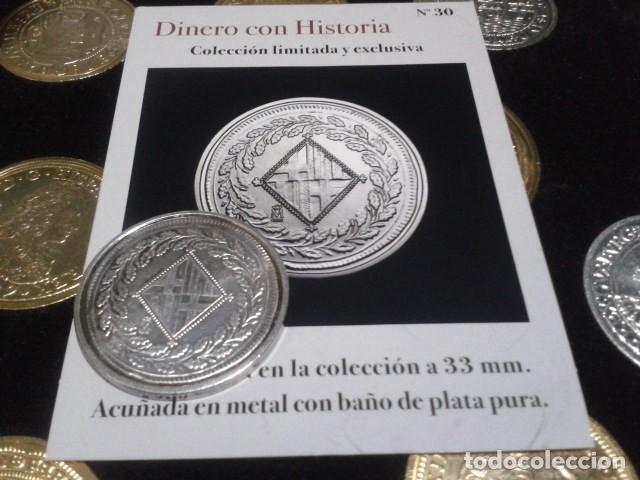 MONEDA 5 PESETAS 1808 BARCELONA JOSE I NAPOLEON DE LA FNMT CON BAÑO DE PLATA PURA (Numismática - Reproducciones)